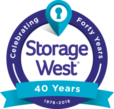 Storage West 40 Years Logo