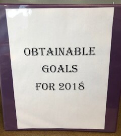 Obtainable Goals For 2018
